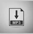 mp3 file document icon download mp3 button icon vector image