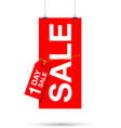 one day sale sign vector image