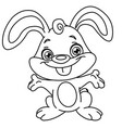 outlined happy bunny vector image vector image