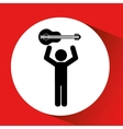 person playing instrument design vector image