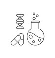pharmaceutical engineering outline vector image vector image