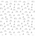 Piranha seamless pattern vector image
