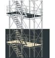 plant platform close-up drawings vector image vector image
