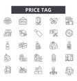 price rag line icons signs set linear vector image