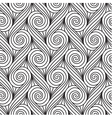 Repeating linear swirls seamless pattern vector image vector image