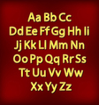 Retro Lightbulb Alphabet Glamorous showtime vector image vector image