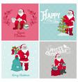 Santa Claus Christmas Cards vector image