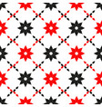 seamless pattern abstract design with red vector image vector image