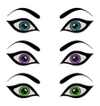 set female eyes isolated vector image