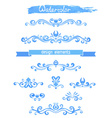 set of vintage watercolor design elements vector image vector image