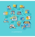 Shopping E-commerce Concept vector image vector image
