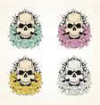 skull and fowers vector image