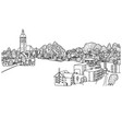 small village in europe sketch vector image vector image