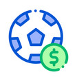 soccer ball betting and gambling icon vector image vector image