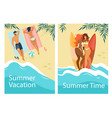 summer time vacation vertical banners set leisure vector image vector image
