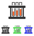 test tubes flat icon vector image vector image