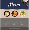 Thai food menu template design vector image