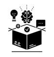 thinking outside box idea management icon vector image