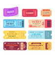 ticket and presentation party vector image vector image