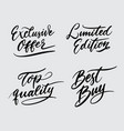 top quality and limited edition handwriting callig vector image vector image