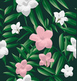 tropical floral pattern vector image vector image