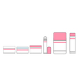 tubes of lipstick and makeup vector image vector image