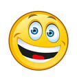 typical laughing yellow smilie vector image