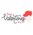 valentine day text vector image vector image