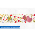 valentines day background heart gift box vector image vector image