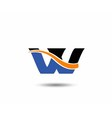 VV company linked letter logo vector image vector image