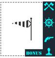 wind sock icon flat vector image