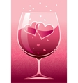 Wine of love vector image
