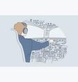 work industry transportation flight concept vector image