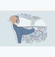 work industry transportation flight concept vector image vector image