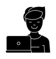 freelancer icon black sign vector image