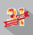 31st Years Anniversary Celebration Design vector image