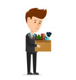dismissal frustrated concept business man vector image