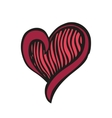 Red fantasy heart in tattoo style vector image