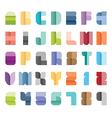Alphabet set type font paper colour style vector image vector image