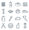 auto service outline icons set vector image
