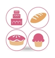 Bakery icon design vector image vector image