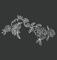 beautiful amazing fashion embroidered roses vector image vector image