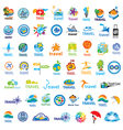 biggest collection of logos Travel vector image