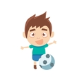 Boy Sportsman Playing Football Part Of Child vector image vector image