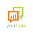business chat talk logo vector image vector image