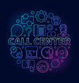 call center round colorful vector image vector image