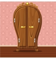 cartoon funny closed Retro wardrobe vector image vector image