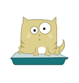 Cat in toilet vector image vector image
