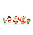 christmas friends celebrate holidays vector image vector image