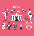 Circus elements set on a